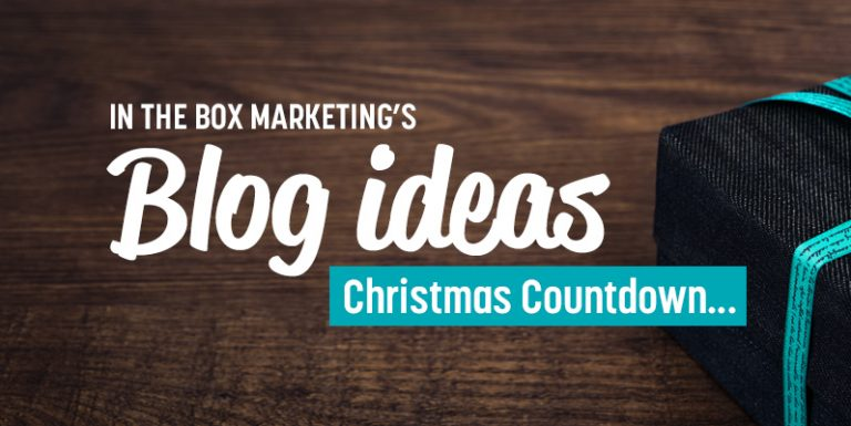 12 blog ideas - Christmas countdown