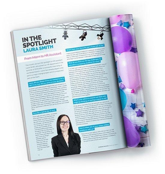 Employer brand magazine example